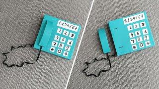 Miniature Phone For Doll House | DIY mini Basic Phone For Doll House | Paper Phone