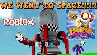 Fuimos al espacio en Roblox juego Pew Pew Simulador