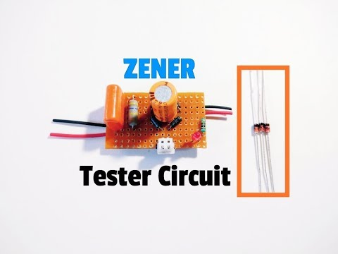 Zener Diode Tester..How To Test The Voltage Of A Zener Diode..Circuit For Checking Zener Voltage..