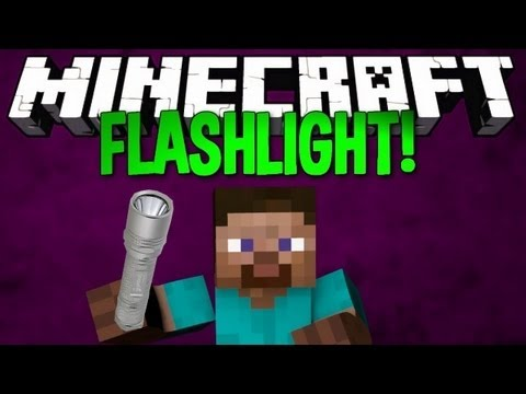 how to make a flashlight in minecraft no mods