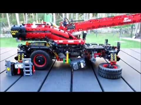 Lego 42082 Crane Full Rc Mod With Buwizz Youtube