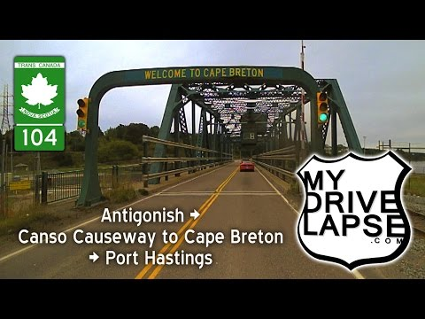 Trans Canada Highway To Cape Breton Island: Canso Causeway