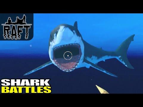Shark Battles & Big Fish Cooking | Raft | Multiplayer Gameplay | E04