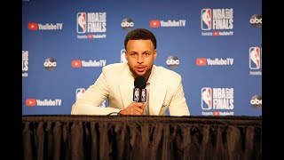 Stephen Curry Reacts To Losing NBA Finals And Klay Thompson ACL Injury
