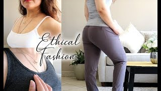 ETHICAL & SUSTAINABLE FASHION HAUL | (A+++ Brands) Patagonia, Pact & Prana Review | Zulayla