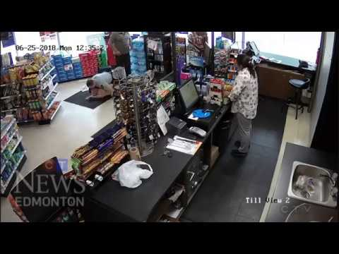 Two arrested in Spruce Grove store  - Yakety Sax Version