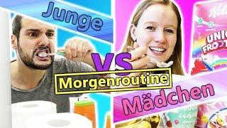 Morgenroutine: JUNGS vs MÄDCHEN! Ein typischer Morgen in der Woche, wenn Schule ist...
