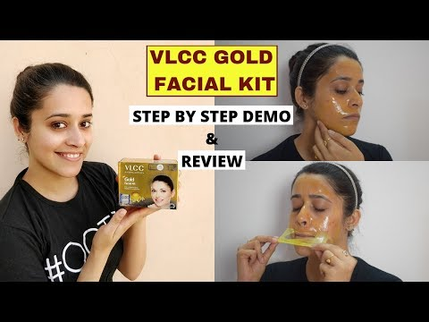VLCC Gold Facial Kit STEP BY STEP DEMO & REVIEW | घर पे Gold फेशियल | Just Another Girl