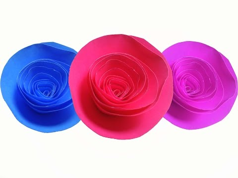 How to make Paper Rose ( very easy ) : DIY Craft