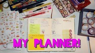 Мой ежедневник ♡ оформление и канцелярия! Разворот в скетчбуке ♡  лд! ARTPOLINKA