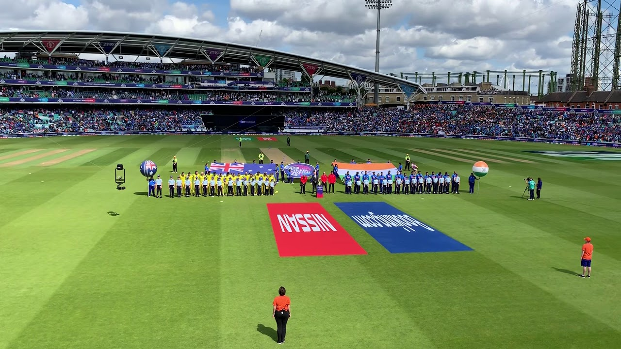 Download National Anthem of Australia and India at Start of Aus-Ind Cricket World Cup 2019 game at the Oval