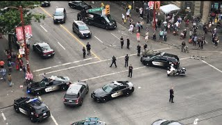 👮♀️17 POLICE CARS respond to EMERGENCY at Main and Hastings🚨 🚔 Vancouver Canada