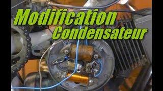 Modification condensateur de l'allumage rupteur mobylette Peugeot 101
