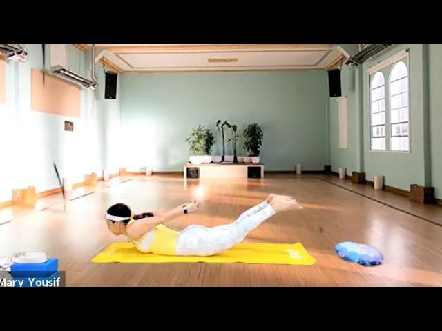 Slow Vinyasa flow focusing on hips and lower back