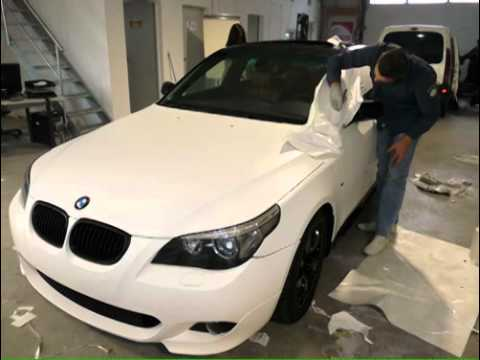 Car Wrapping Fahrzeugvollverklebung Bmw E60 Youtube