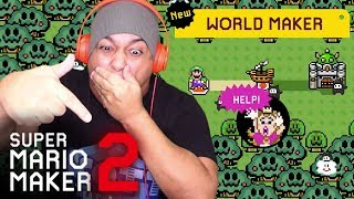LET'S TRY THE NEW UPDATE! YOU CAN MAKE WORLDS NOW!! [SUPER MARIO MAKER 2] [UPDATE] [GAMEPLAY]
