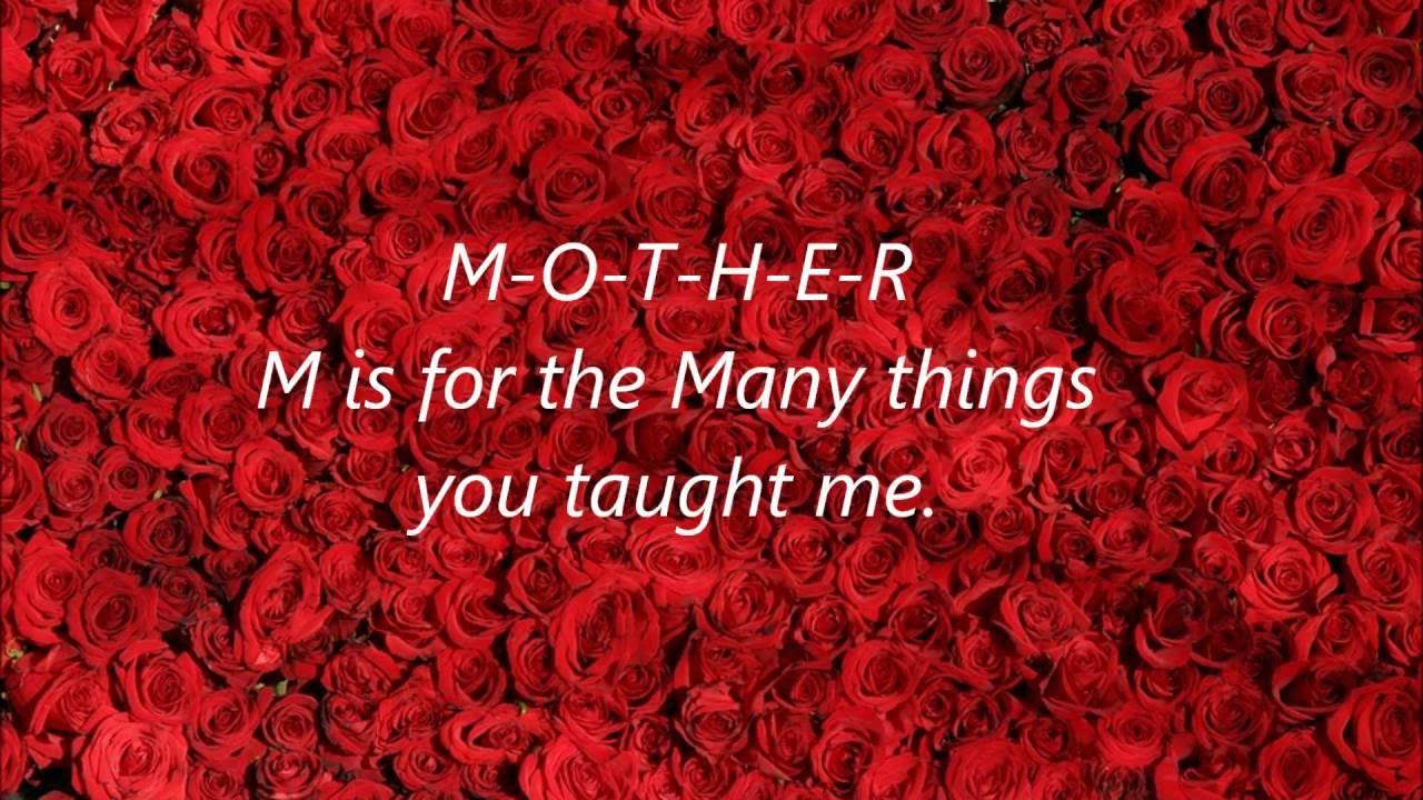 Happy Mothers Day Greeting Ecard Ecards Song Songs Words Lyrics To