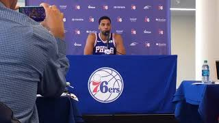 Jahlil okafor discusses being the subject of trade rumors at sixers media day