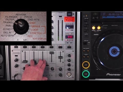 DJ'ing for Beginners - Learning to Use Effects (FX) on a Pioneer DJM-600 Mixer
