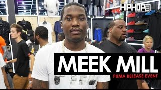 Meek Mill Debuts New Sneakers & Signs Autographs At The Puma Lab In-Store Release