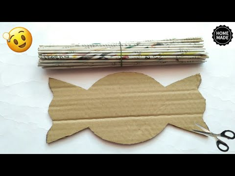 Best out of waste craft ideas | Newspaper craft ideas | best use of old newspaper | #HMA468