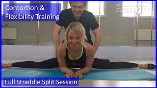 45 Flexyart Contortion Training: Full Straddle Session - Also for Yoga, Pole, Ballet, Dance People