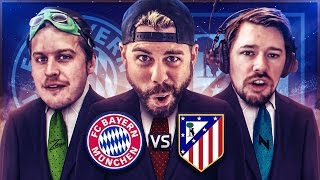 REACTING TO BAYERN MUNICH vs ATLETICO MADRID with ZwebackHD + NepentheZ - Champions League Challenge