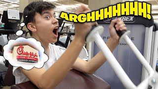 EVAN IS BACK IN THE GYM!!! Shoulder and Tricep Workout! Chick-Fil-A Builds Big Muscles!