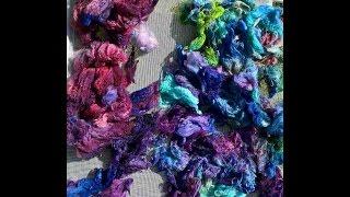 Dyeing wool and alpaca locks