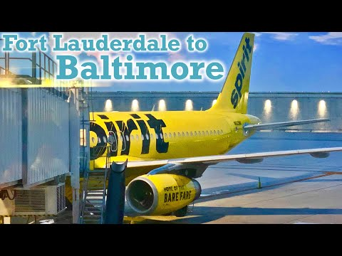 Full Flight: Spirit Airlines A320 Fort Lauderdale to Baltimore (FLL-BWI)