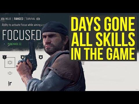 Days Gone – All Skills Explained And Detailed