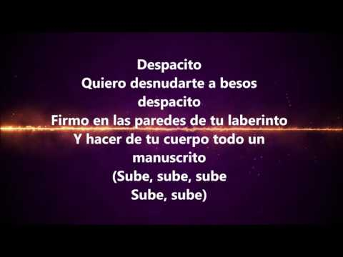 Despacito Remix: Luis Fonsi, Daddy Yankee Ft Justin Bieber (LYRICS)