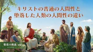 キリスト教映画「敬虔の奥義:続編」抜粋シーン(3)キリストの普通の人間性と堕落した人類の人間性の違い 日本語吹き替え