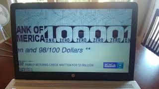 $1 million dollar cashiers check returned
