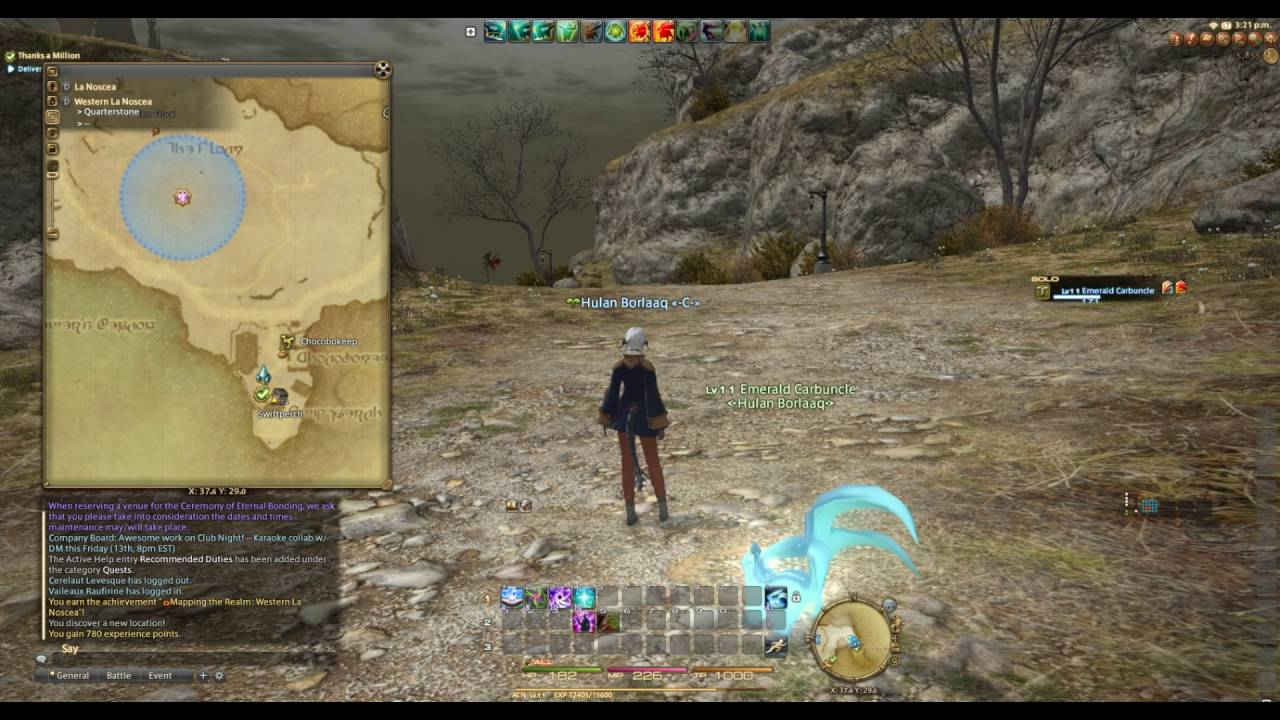 Navigating Maps in FFXIV
