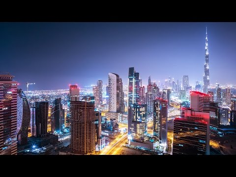 Night Drive on Sheikh Zayed Road -  2017 -  مدينة دبي في الليل