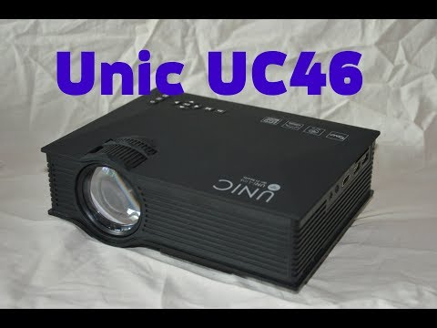 UNIC UC46+ Проектор Projector (Распаковка Обзор)
