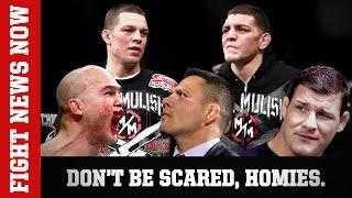 Nick Diaz vs. Bisping, Nate Diaz vs. Lawler, Silva vs. Mousasi & More on Fight News Now