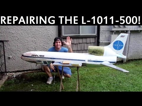 Repairing my Pan Am L-1011-500 RC Airliner