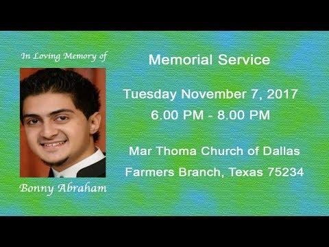 UM Live Events/ Bonny Abraham Memorial Service - 3