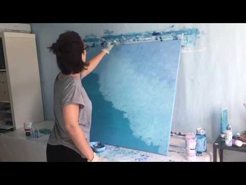 """Acrylic Abstract Painting Timelapse – """"Back Home"""""""