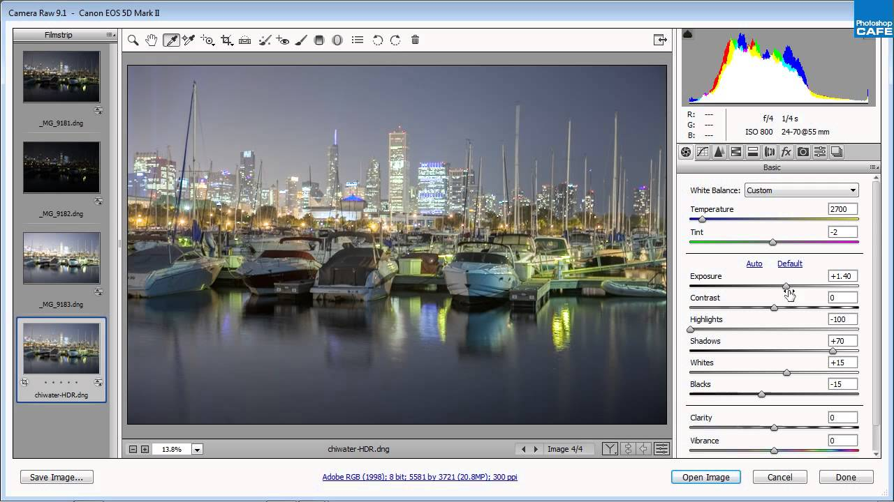 how to add camera raw filter in photoshop cs4