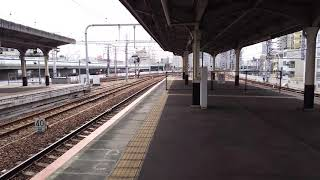 【JR神戸線神戸駅3番のりば接近メロディー(さざなみ)】321系普通列車入線