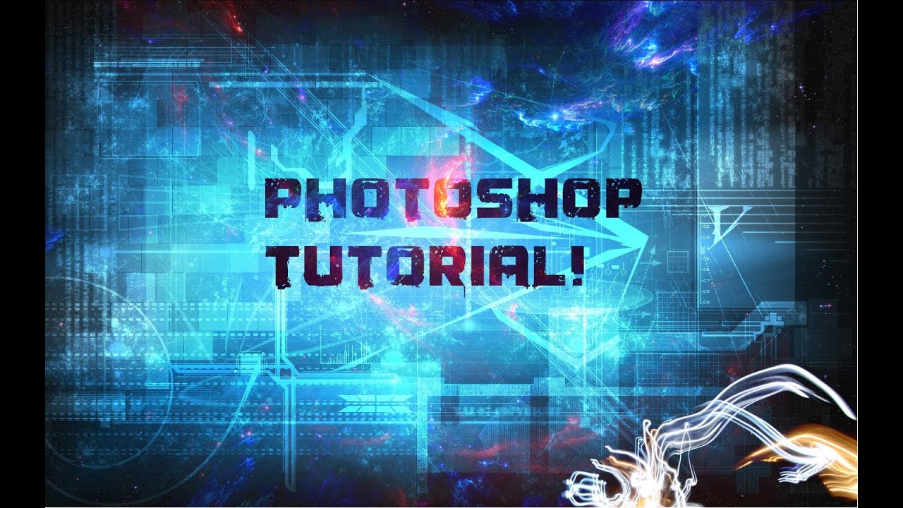 How to make a Cool Space Background in Photoshop CS6 - YouTube