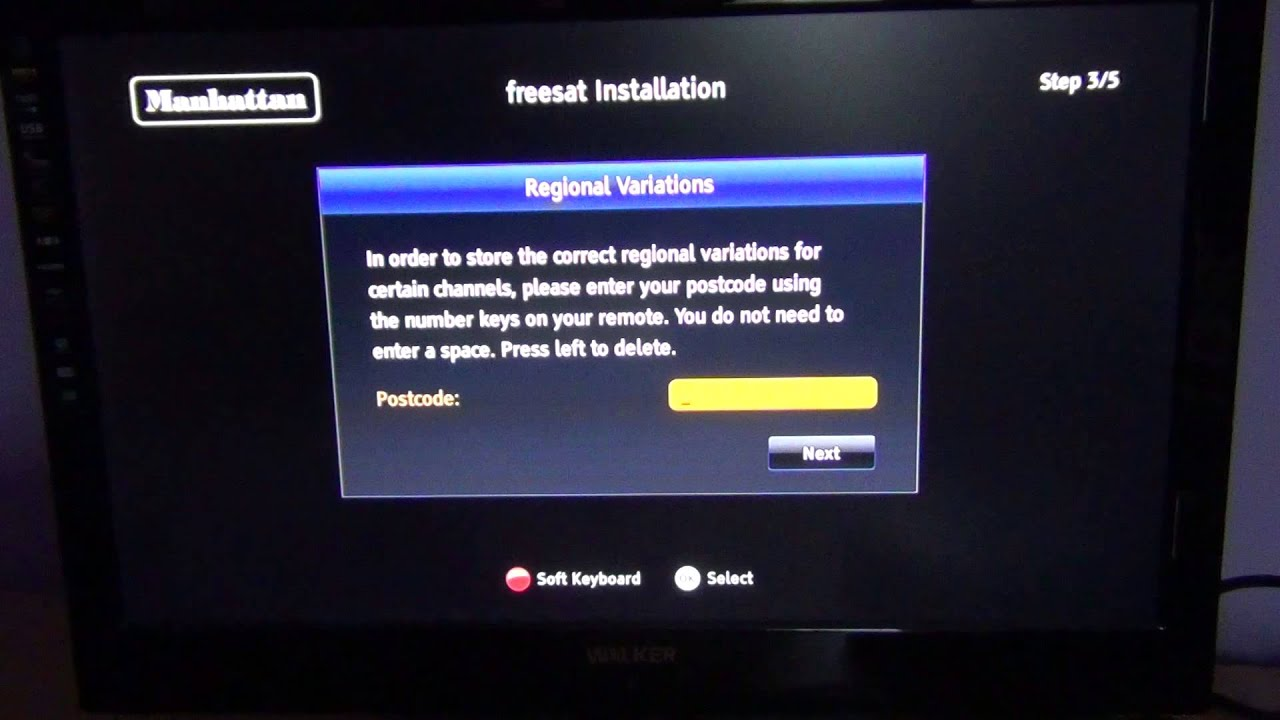 Manhattan Plaza HD-S2 Freesat HD - First Time Install
