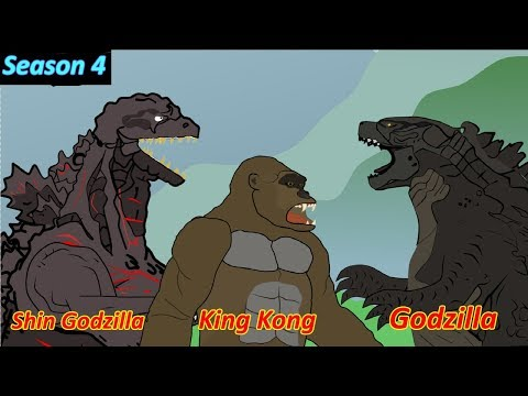 Godzilla  King Kong vs Shin godzilla  Funny Cartoon Animation HD