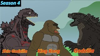 Godzilla - King Kong vs Shin godzilla - Funny Cartoon Animation [HD]