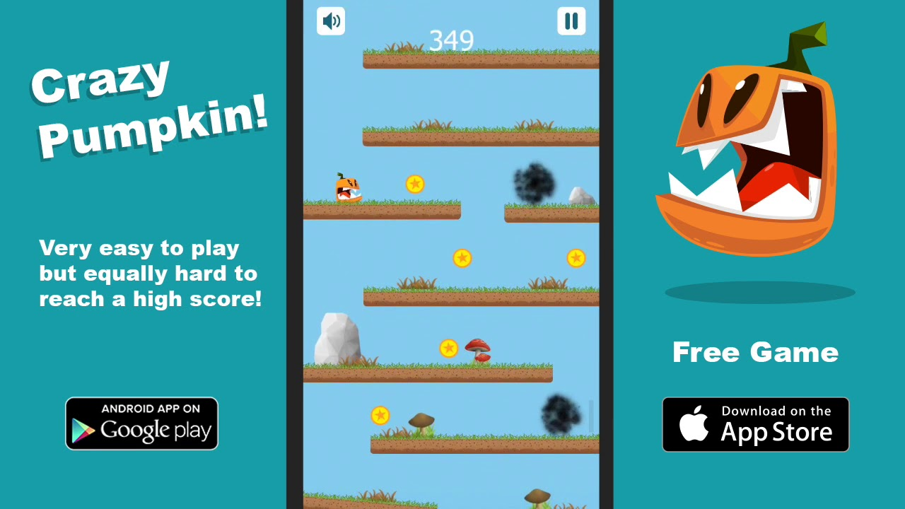 Play Crazy Pumpkin! Free Mobile Game