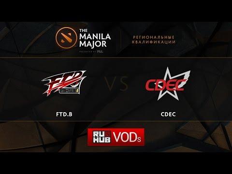 FTD.B vs CDEC,Manila Major Qualifiers game 1