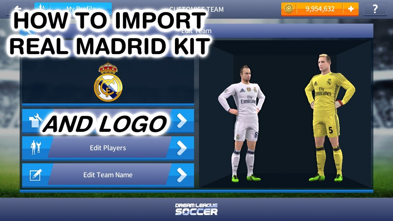 ceed03fdc How To Import Real Madrid Kit
